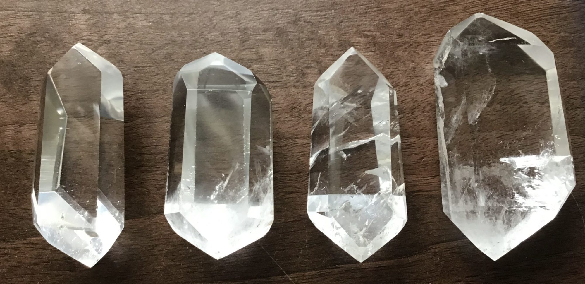 Double Terminated Clear Quartz Crystal