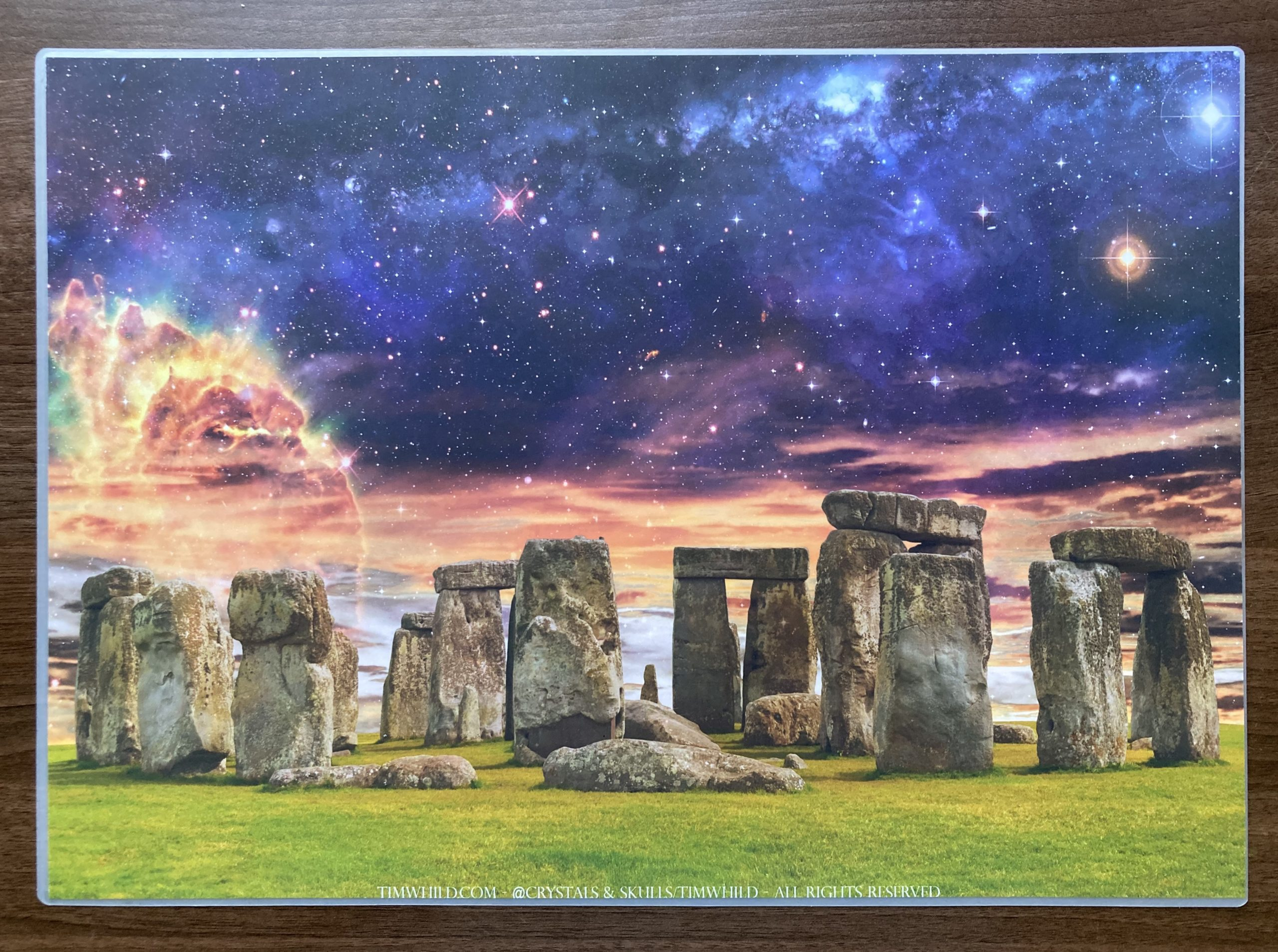 2x A3 Glastonbury & Stonehenge Wall Art Pictures/Grids